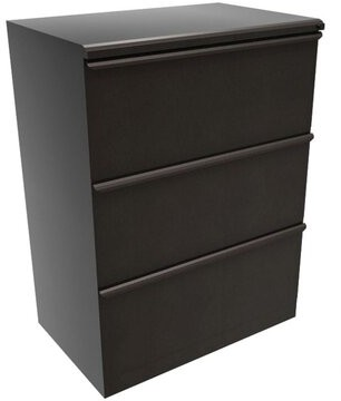 Zapf 3-DrawerVertical Filing Cabinet Symple Stuff Finish: Dark Neutral