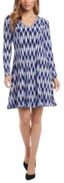 Karen Kane Printed Fit & Flare Dress