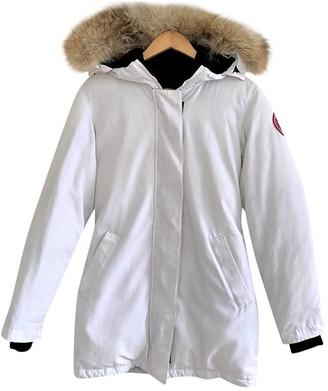 Canada Goose Victoria White Polyester Coats