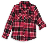 Planet Gold Girls 7-16 Plaid Flannel Top