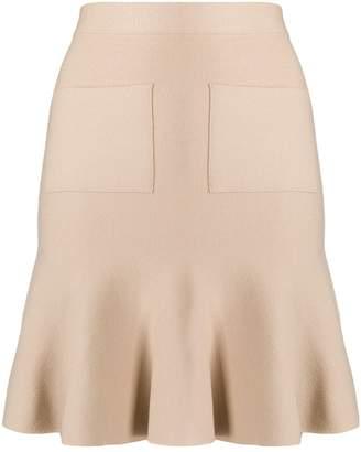 Steffen Schraut Pocket Front Peplum Skirt
