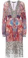 Roberto Cavalli Printed silk dress