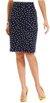 Charter Club Skirt, Slim Polka-Dot Pencil
