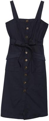 MelloDay Button Front Belted Dress