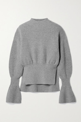 Alexander Wang Ribbed Wool-blend Sweater - Gray