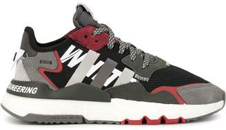 White Mountaineering colour block panelled sneakers
