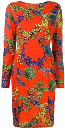 Versace Baroque print midi dress
