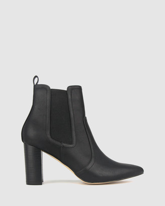 betts Grinch Block Heel Ankle Boots