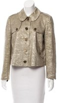 Burberry Metallic Knit Coat