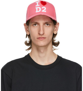 DSQUARED2 Pink I Heart D2 Baseball Cap