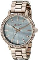 Roxy The Bells Women's Quartz Watch with Mother Of Pearl Dial Analogue Display and Rose Gold Stainless Steel Strap RX/1010GMRG