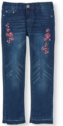 Aeropostale P.S.09 From Floral Embroidered Skinny Jean (Little Girls & Big Girls)
