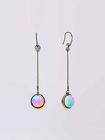 Diane von Furstenberg Rainbow Ball Drop Linear Earring