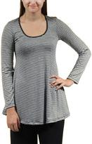 24/7 Comfort Apparel Striped Tunic Top