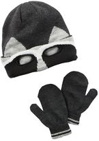 Carter's Toddler Boy Knit Embroidered Hat & Mittens Set
