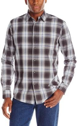 Wrangler Authentics Men's Big & Tall Long Sleeve Premium Plaid Shirt