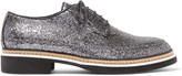 McQ by Alexander McQueen Glittered leather brogues