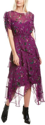 Tanya Taylor Cosette Silk Maxi Dress