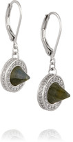 Eddie Borgo Silver-plated, labradorite and crystal earrings