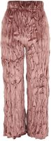 Topshop Crushed Velvet Trousers