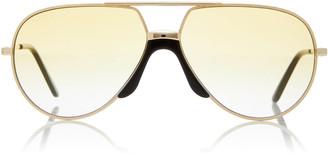 Gucci Oversized Metal Aviator Sunglasses