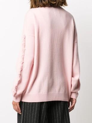 Barrie Chevron Knit Cashmere Jumper