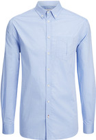 Washed Oxford Clarendon Shirt In Blue