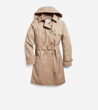 Cole Haan Hooded Trench Coat