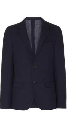 Lanvin Gingham Wool and Cotton-Blend Seersucker Blazer