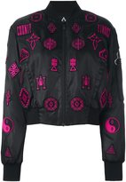 Marcelo Burlon County of Milan 'Lise' bomber jacket - women - Cotton/Polyamide/Polyester/Viscose - M