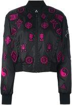 Marcelo Burlon County of Milan 'Lise' bomber jacket - women - Cotton/Polyamide/Polyester/Viscose - M