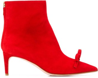 RED Valentino RED(V) bow-detail ankle boots