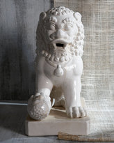 Two Lion Statues