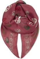 Alexander McQueen Skull & stars silk-chiffon scarf