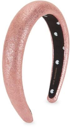 Lele Sadoughi Metallic Faux-Leather Petite Padded Headband