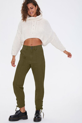 Forever 21 Lace-Up Ankle Pants