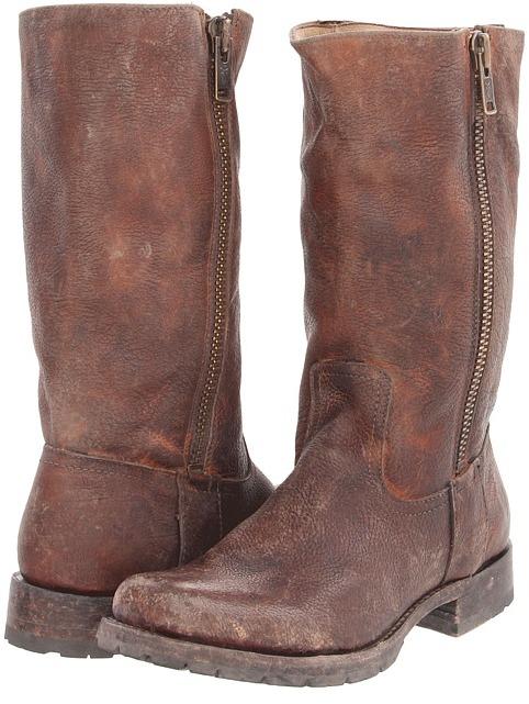 Frye Heath Outside Zip (Maple) - Footwear