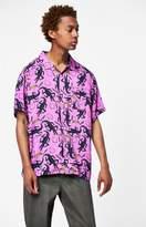 Obey Salazar Short Sleeve Button Up Shirt