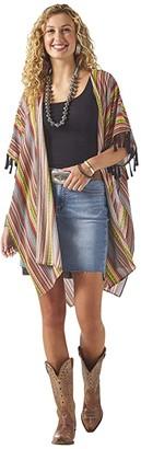 Wrangler Kimono Duster (Green/Orange) Women's Clothing
