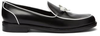 Fabrizio Viti Keaton Bow-applique Leather Loafers - Black/white