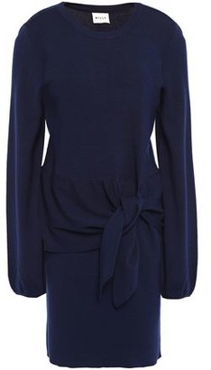 Milly Knotted Knitted Mini Dress