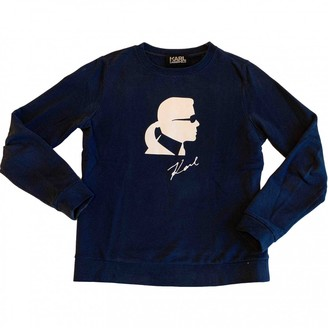 Karl Lagerfeld Paris Navy Cotton Knitwear for Women