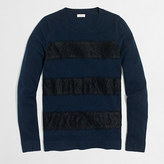 J.Crew Factory Striped lace Teddie sweater