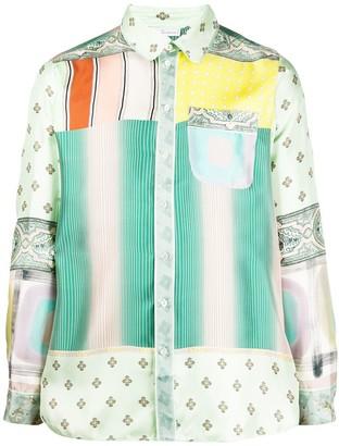 Pierre Louis Mascia Long Sleeve Patchwork Shirt