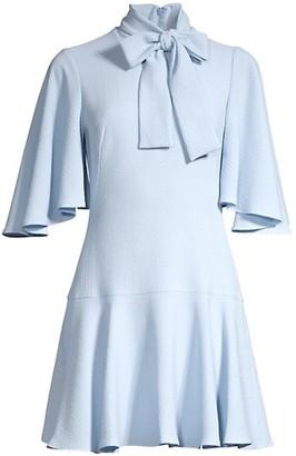 Black Halo Coralia Tie-Neck A-Line Dress