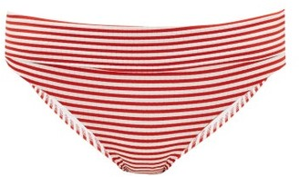 Melissa Odabash Provence Striped Bikini Briefs - Red Stripe