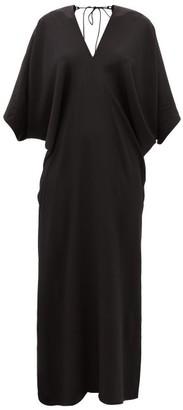 Thea - The Chara V-neck Silk-georgette Maxi Dress - Womens - Black