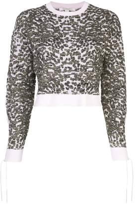Jonathan Simkhai leopard pattern sweater