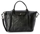Longchamp Le Pliage Cuir Leather Medium Handbag.