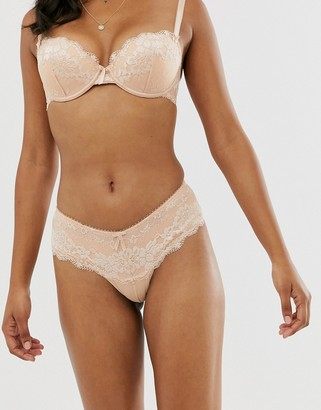 Pour Moi? Pour Moi amour lace short knickers in caramel-Cream